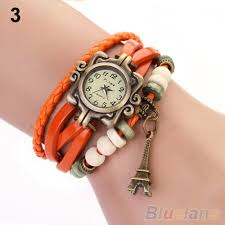 quartz bracelet wrist watches images Beautiful girl lady hot vintage women 39 s eiffel tower quartz jpg