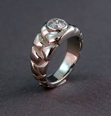 custom wedding rings custom wedding ring with an overlap braid design