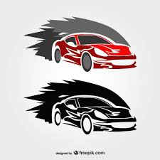 fast race car logos vector free download