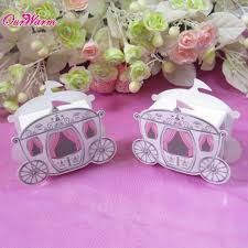 wholesale wedding party favors box candy gift box cinderella