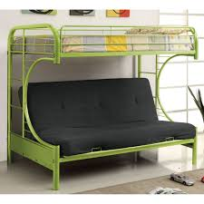 duro wesley twin over futon bunk bed silver hayneedle