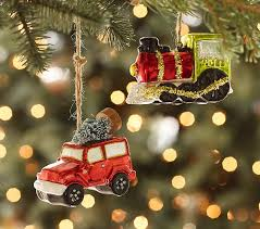 car mercury glass ornaments pottery barn