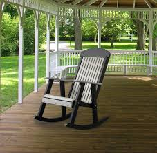 Outdoor Patio Rocking Chairs Four Seasons Furnishings Amish Made Furniture Luxcraft Poly