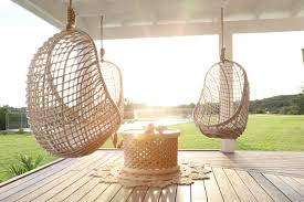 wicker hanging egg chair offers a graph net
