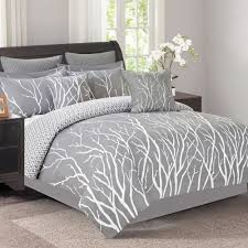 madelyn blue gray geo comforter set 8 piece christmas tree