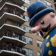 macy s thanksgiving day parade stock footage