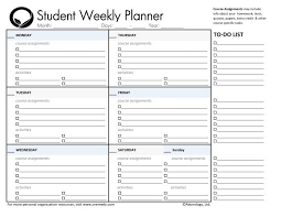 printable organization quiz for students day planner printable student planners student daily planner