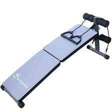 soozier folding ab decline adjustable sit up bench w resistance
