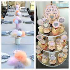 Shabby Chic Wedding Shower by Shabby Chic Bridal Shower Peach U0026 Gray Tulle Pom Pom Garland Http