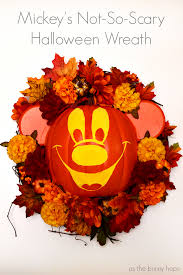 mickey mouse halloween decorations mickey u0027s not so scary halloween wreath as the bunny hops