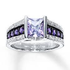 silver amethyst rings images Kay amethyst ring square cut sterling silver jpg
