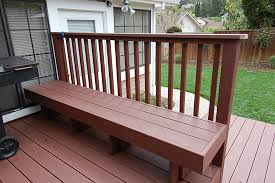 Decks With Benches Built In Trex Bench Step Halicio
