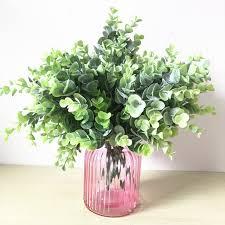 wedding flowers eucalyptus 5pcs green leave eucalyptus leaf wall decoration free shipping pu