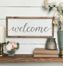 Home Decor Signs Welcome Sign Welcome Wood Sign Farmhouse Wall Decor