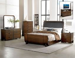 minato bedroom 1815 in brown cherry by homelegance w options