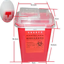 yuelong red sharps container wholesale price for tattoo accessory