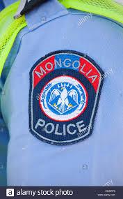 mongolian police badge ulaanbaatar mongolia stock photo