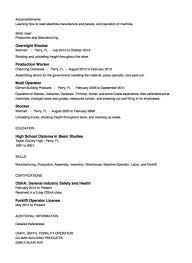 sample resume for forklift operator hitecauto us