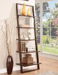 ideas contemporary wall decorating with leaning shelves design