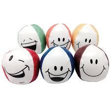 smiley face bean bag balls set of 12 anderson u0027s