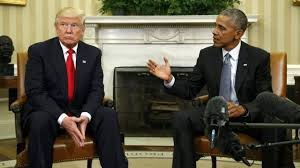 Trump In The Oval Office Donald Trump Meets Barack Obama Five Awkward Photos Bbc News