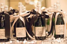 wine bottle favors favors gifts photos ribbon chagne bottles inside