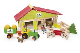chalet a monter soi meme jeujura a1202824 jeux de construction ferme avec tracteur et