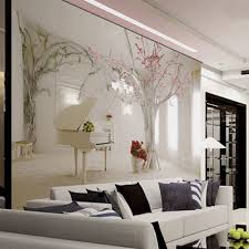 3d Wallpaper Home Decor Cherry Flower Tree Wallpaper Murals 3d Wallpapers For Living Room