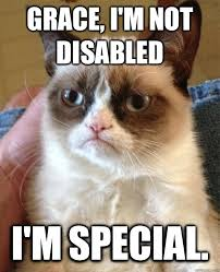 Special Meme - grace i m not disabled cat meme cat planet cat planet