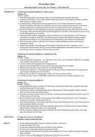 corporate resume exles corporate responsibility resume sles velvet