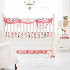 Crib Bedding Separates Floral Nursery Set Rosewater In Coral Crib Collection Crib