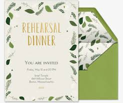 rehearsal dinner invitation rehearsal dinner free online invitations