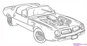 car drawing how to draw a trans am step by step cars draw cars online