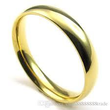 gold rings for men 072991 wholesale 4mm men s stainless steel golden ring stylish