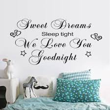 compare prices on wall decal quotes for kids online shopping buy vinyl wall stickers sweet dreams good night art mural quote wall decals for kids room decor