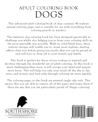 amazon com coloring book dogs advanced realistic dogs