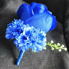 royal blue boutonniere weddingbobdiy boutonniere ivory groom groomsman best