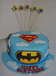 super hero cake superman spiderman captain america and batman