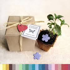 flower seed wedding favors 15 plantable wedding favors with biodegradable pots and flower