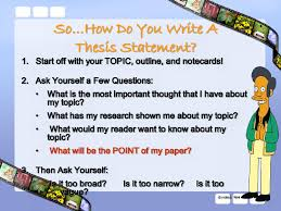 example thesis statements lisa simpson on thesis statements topic sentences writing lisa simpson on thesis statements topic sentences
