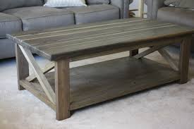 Unique Rustic Coffee Tables White Rustic X Coffee Table Diy Projects