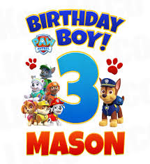 birthday boy paw patrol iron on transfer birthday boy luvibeekidsco