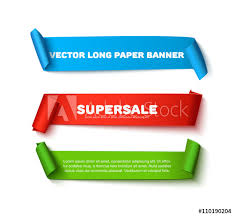 paper ribbons set of colorful horizontal curved paper ribbon banners with paper