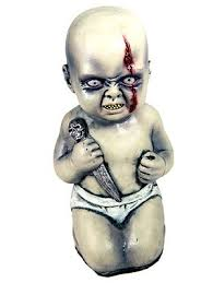 baby props evil baby with knife prop scary props
