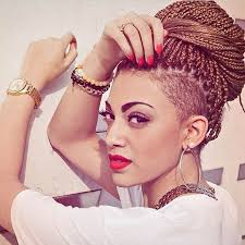 half shaved with braids 50 box braids hairstyles that turn heads stayglam