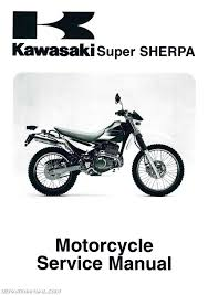 1997 2010 kawasaki kl250g super sherpa motorcycle service manual