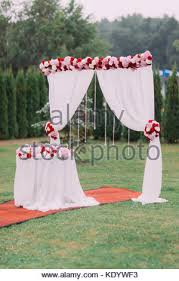 How To Decorate Wedding Arch Beautiful Wedding Arch Decorated With Flowers In The Park Stock