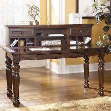 porter leg desk with low hutch signature design by ashley