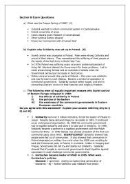 section b exam questions end of cold war
