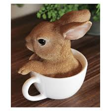 miniature rabbit cup figurines home decor figurines home decor